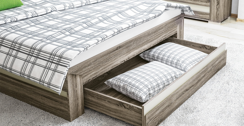 Bett mit Bettkasten Cristall 160x200