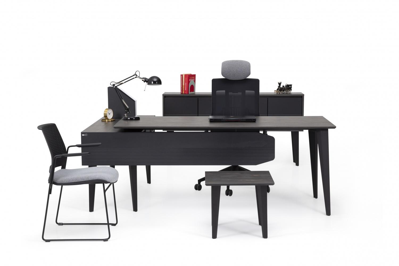 Ovali Büromöbel komplett 4-teilig Lock Schwarz