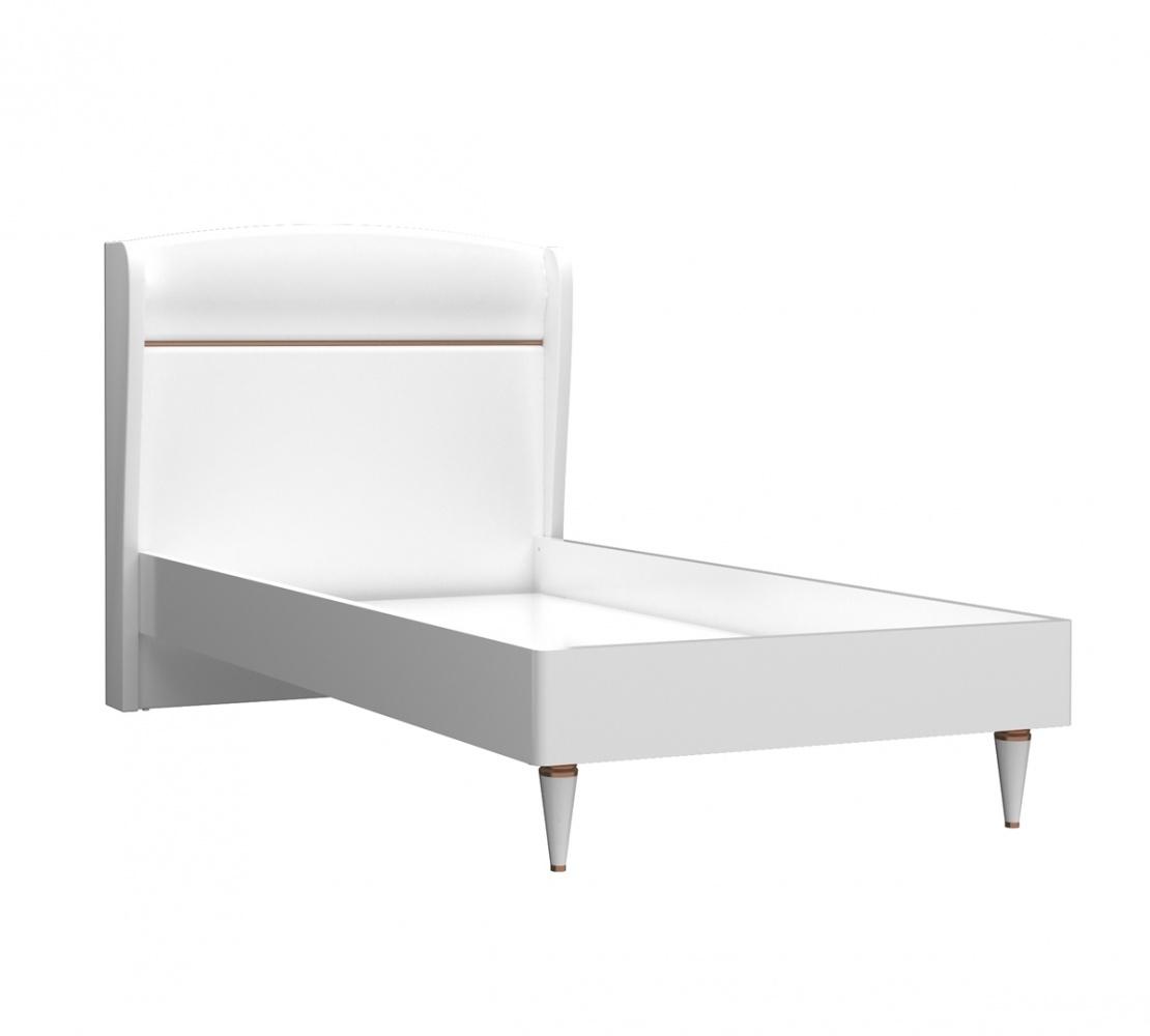 Almila Kinderbett Bella in 100x200 Weiß Gold