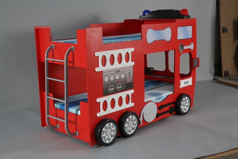 Feuerwehrbett Etagenbett  inkl. Matratze + Rost