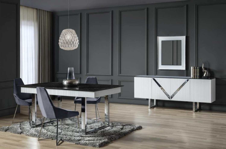 Esszimmer Set Veno in Marmoroptik mit Sideboard