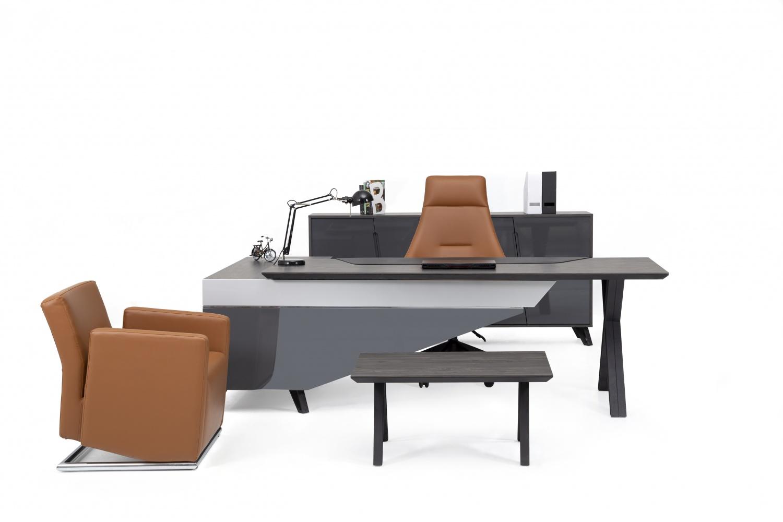 Ovali Büromöbel komplett 4-teilig Trait