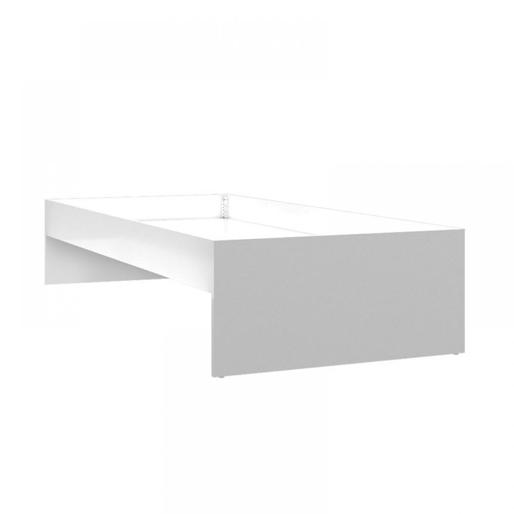 Almila Jugendbett in Weiß Easy ohne Bettkasten 90x200