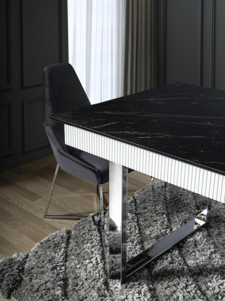 Esszimmerstuhl Veno gepolstert in Grau 6er Set