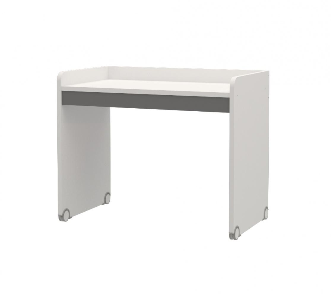 Almilas Schreibtisch Neos für Hochbetten Weiß Grau