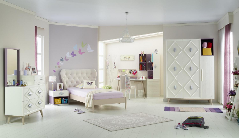 Almila Jugendbett Diamond in Weiß 100x200