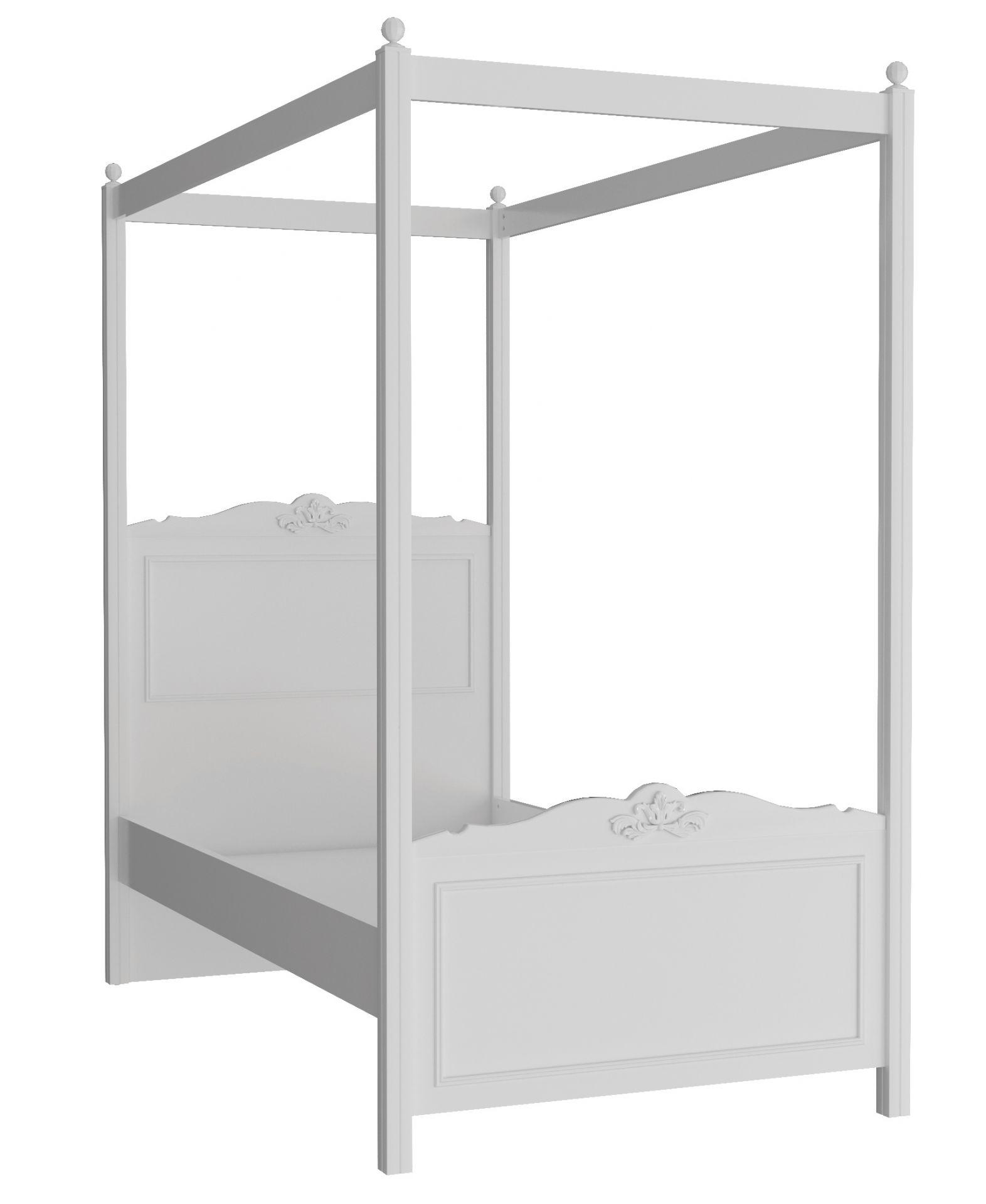 Almila Himmelbett Lana 3-teilig Weiß 120x200 cm
