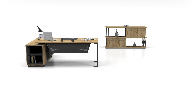 Büromöbel Set Window 3-teilig mit Schreibtisch 160x80