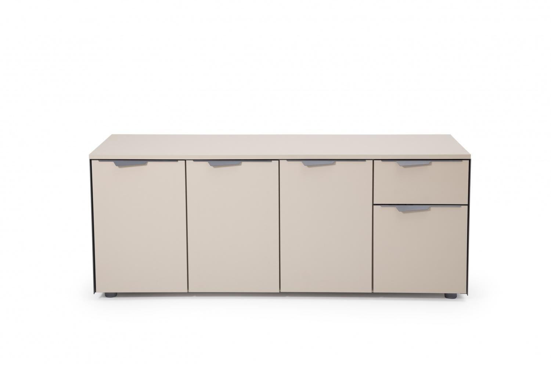 Ovali Büro Sideboard 4-türig Curve L2 Beige