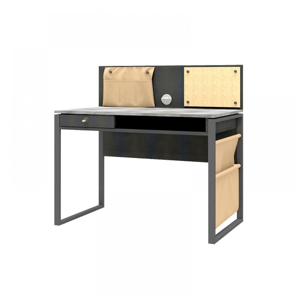Almila Schreibtisch Novali mit USB in Schwarz