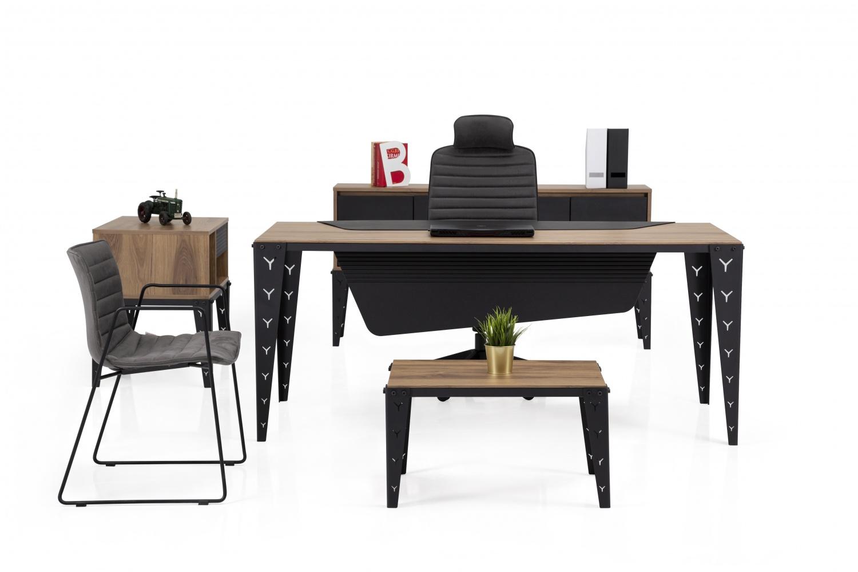 Ovali Büromöbel komplett 4-teilig Colt Schwarz