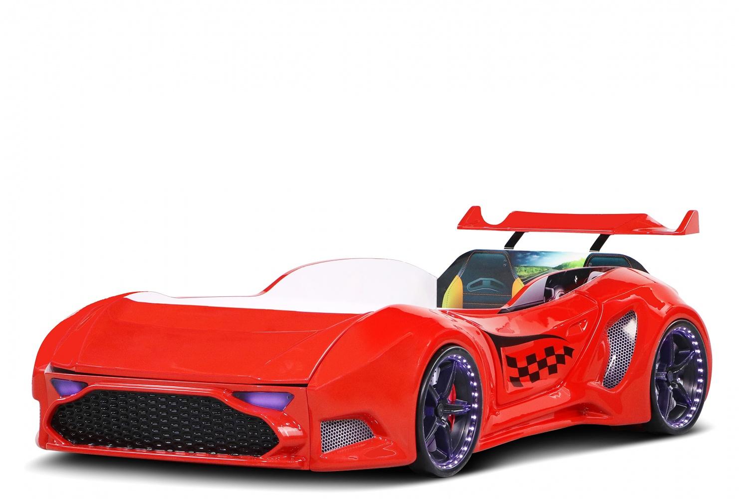 Autobett Bumer Nova GTI Rot mit Stauraum