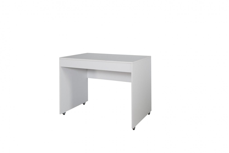 Schreibtisch Puzzle mit Rollen in Weiß