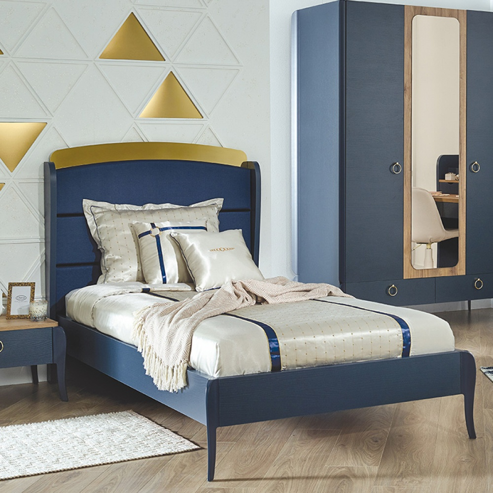 Almila Design Jugendbett Elegant Blue 120x200