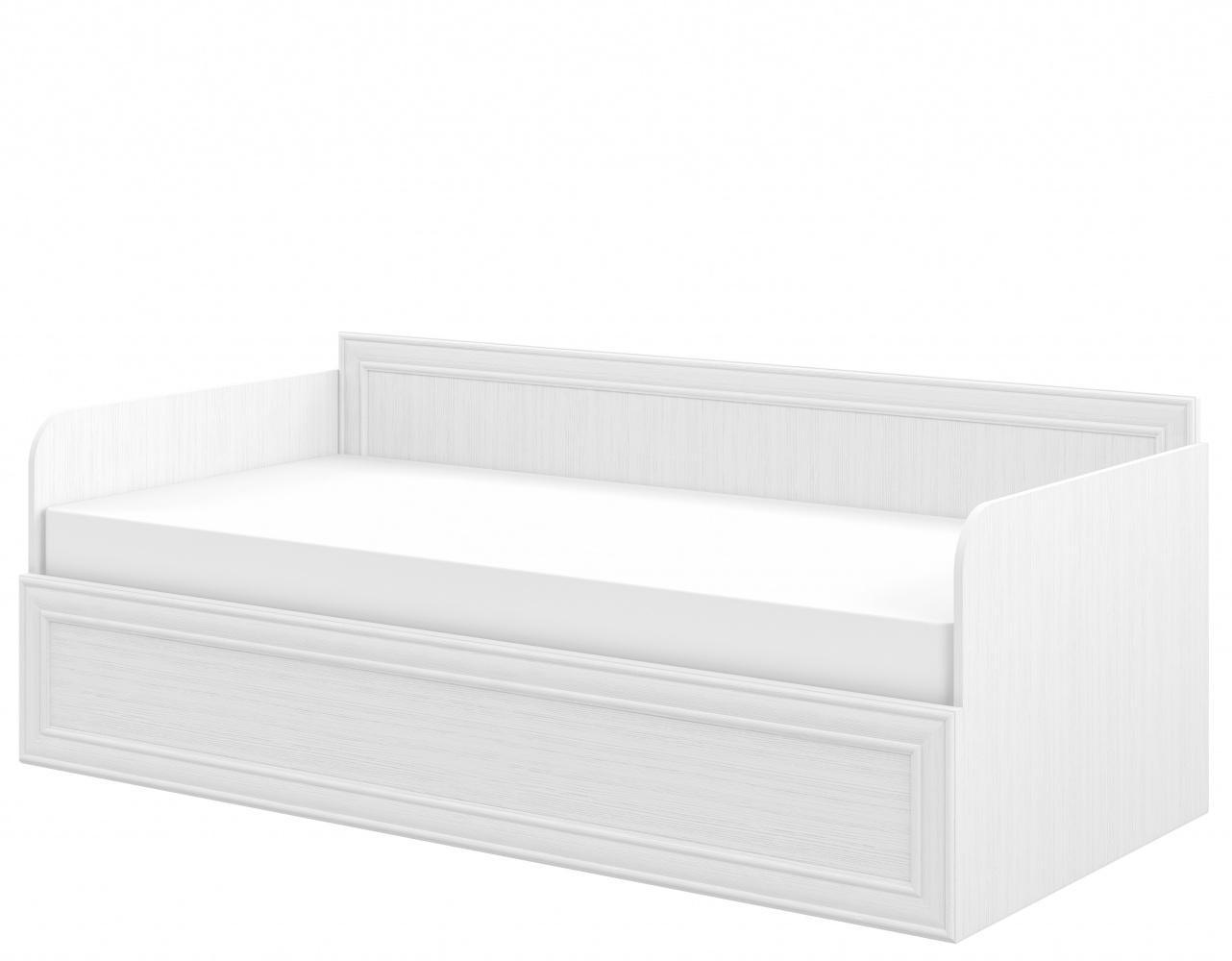 Neman Sofabett mit Stauraum und Lattenrost Juna Weiß