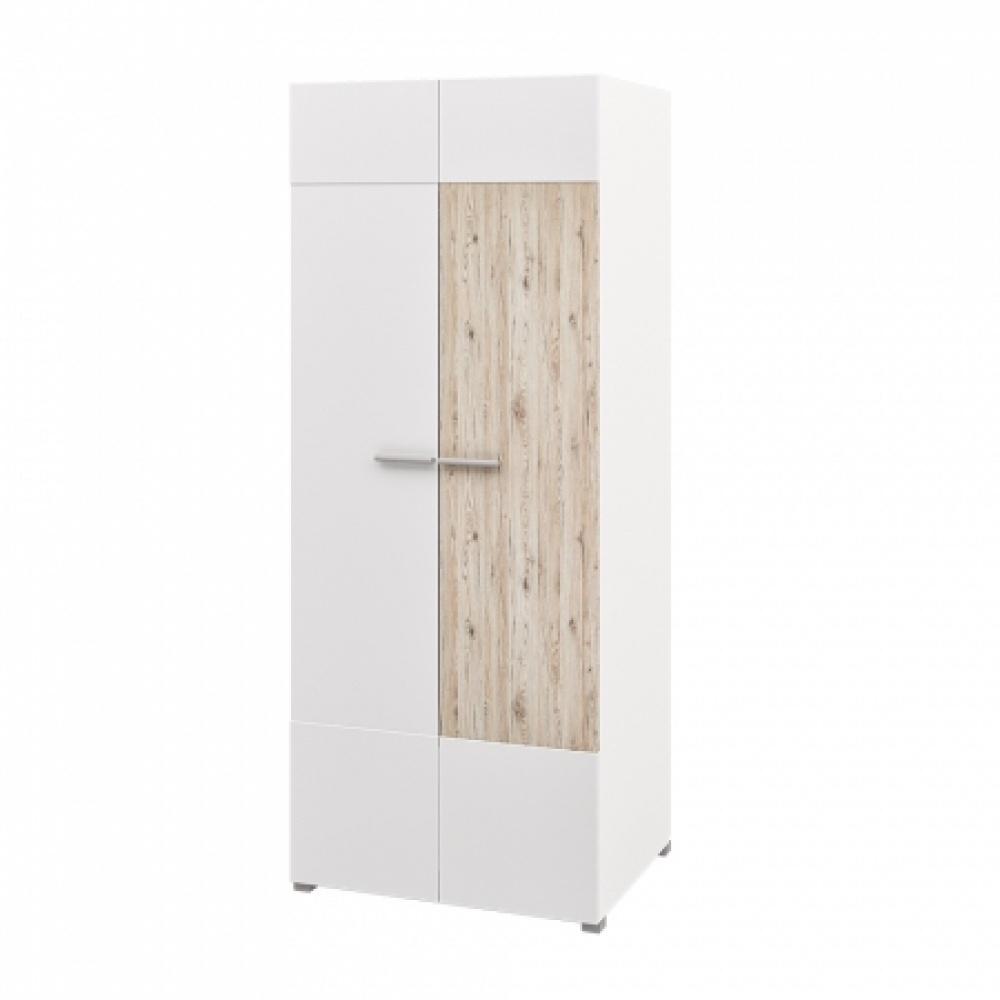 Garderobenschrank Weiß Eiche Seleno