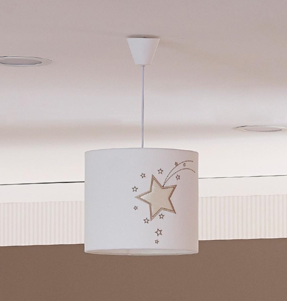 Almila Hängeleuchte Babyzimmer in Weiß Star Stern