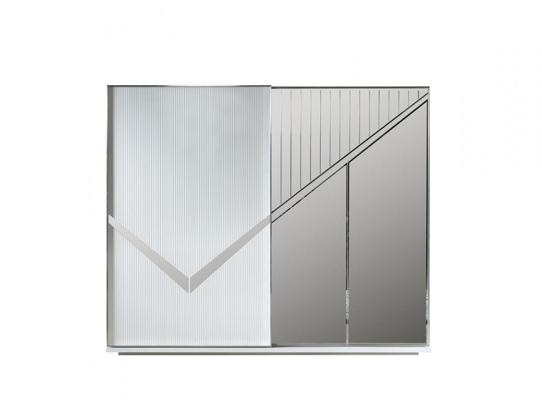 Schwebetürenschrank Veno Weiß mit Spiegel und LED