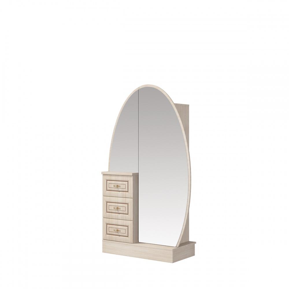 Kommode mit Spiegeltüre Eiche gebleicht Vasilica