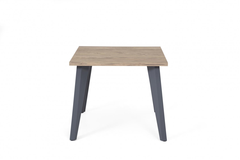 Ovali Beistelltisch 4-beinig Organic Grau Holzoptik