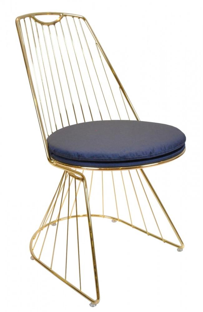 Almila Stuhl aus Metall Elegant Blue