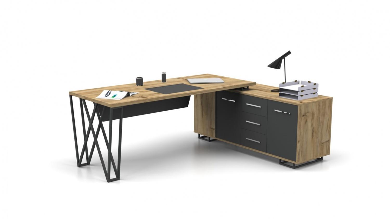 Büro Schreibtisch in L-Form Window 180x80