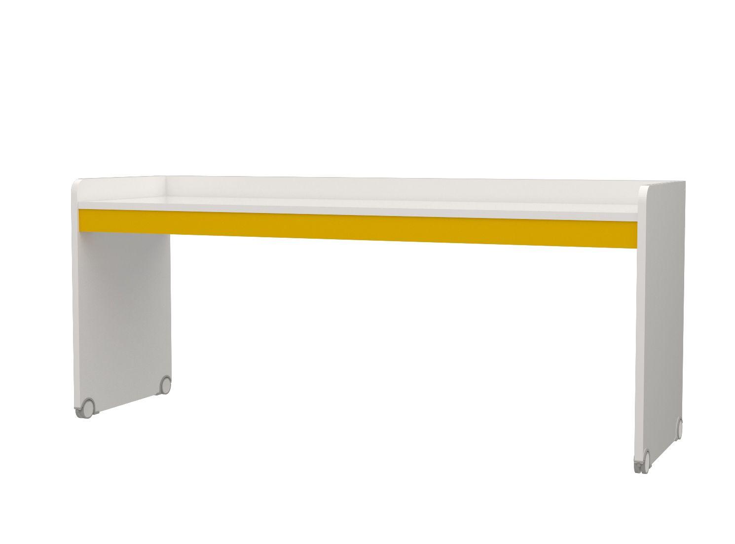 Almila Jugend Schreibtisch in Weiß Gelb Modern