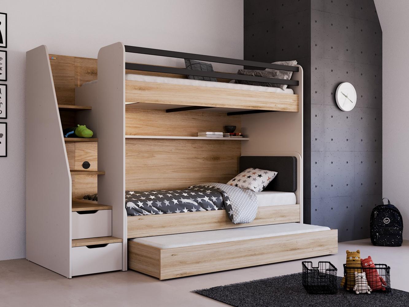 Almila Kinderzimmer Set  Novum Options  mit 3 Schlafplätzen