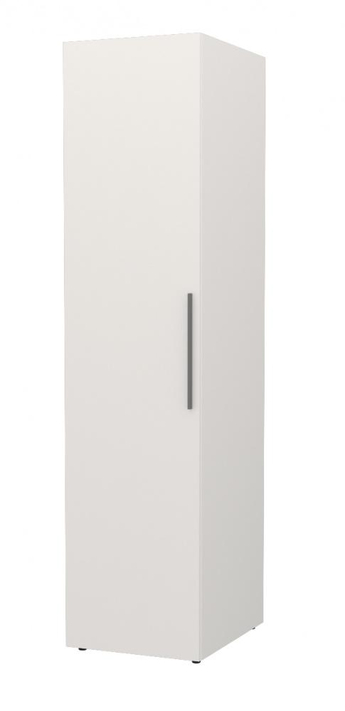 Almilas Kleiderschrank Neos 1-türig in Weiß mit LEDs
