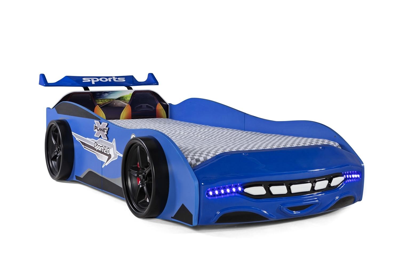KinderAutobettSport20BlaumitScheinwerfer