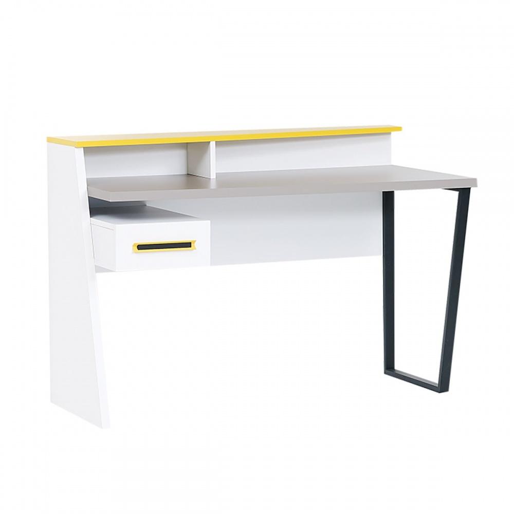 Almila Design Schreibtisch Angle mit Schubfach