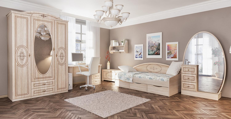 Jugendzimmer Eiche gebleicht Vasilica 7-teilig