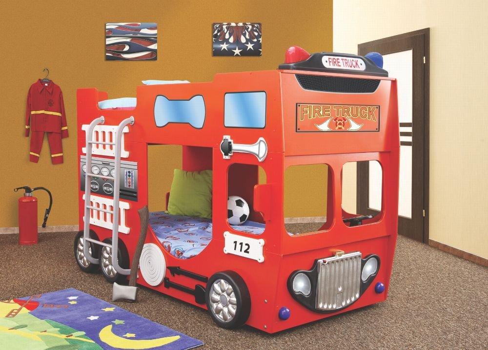 Feuerwehrbett Etagenbett Bett  Doppelbett inkl. Matratze + Rost