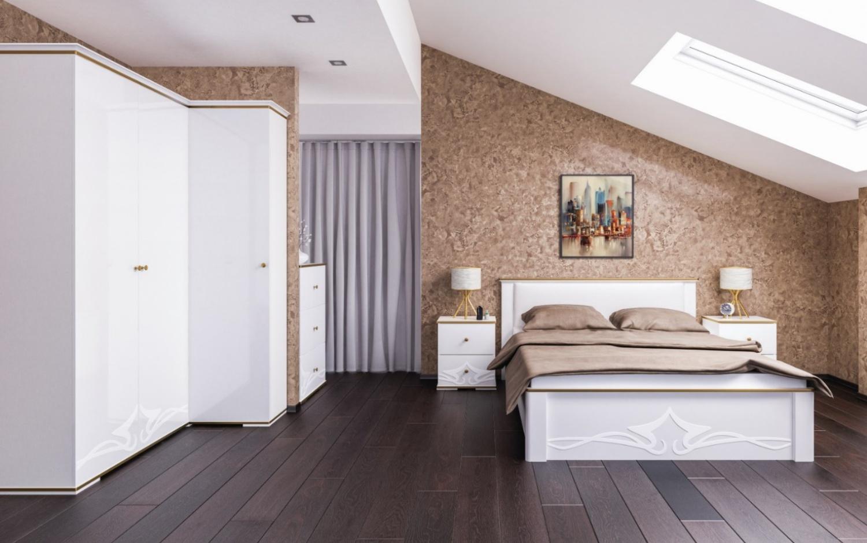Schlafzimmer Weiß Liberty 6-teilig 160x200