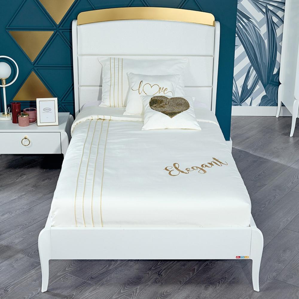 Almila Jugendbett Elegant White 120x200