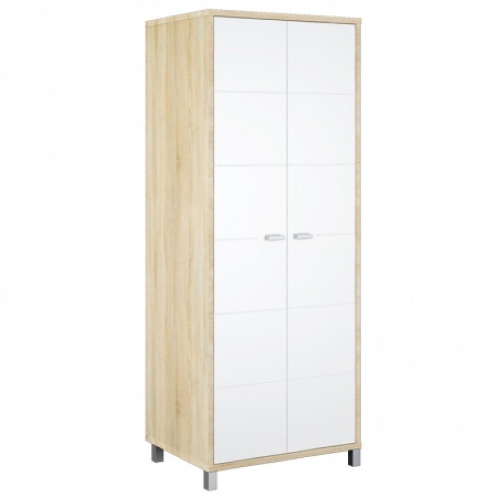 Garderobenschrank Weiß Sonoma Domino