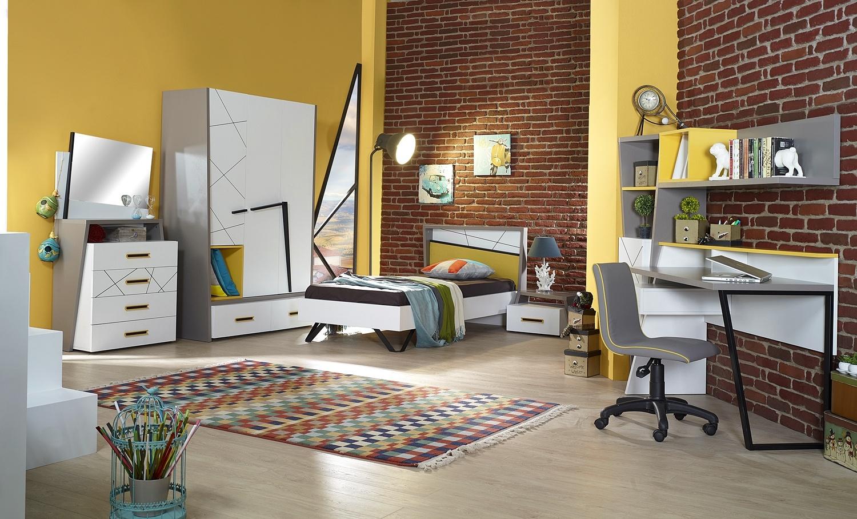Almila Jugendzimmer komplett Set Vector 8-teilig