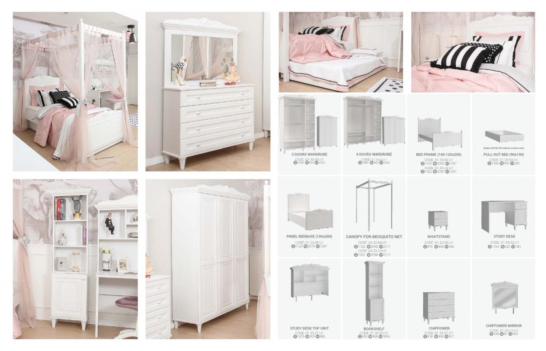 Almila Kinderzimmer 8-teilig  komplett Lana mit Bett 120x200 cm