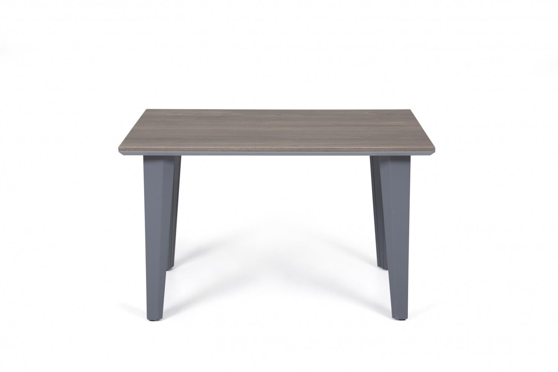 Ovali Beistelltisch 4-beinig Elegance Grau Holzoptik
