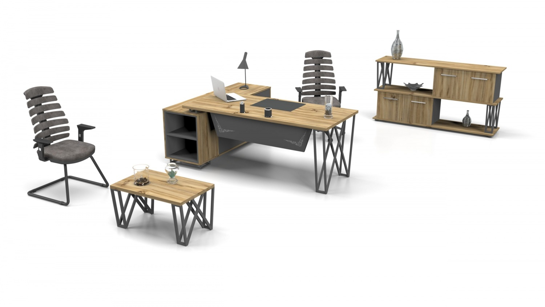 Büromöbel Set komplett Window 3-teilig 180x80