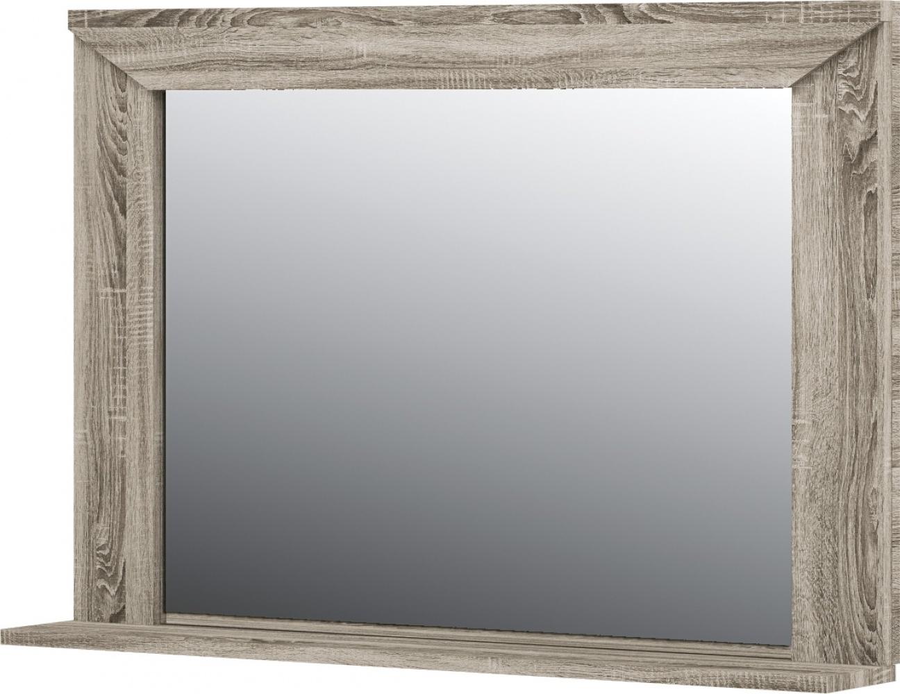 Wandspiegel mit Ablage Eiche Optik Cristall