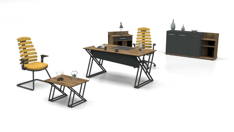 Büro Couchtisch Buton in Holz Optik