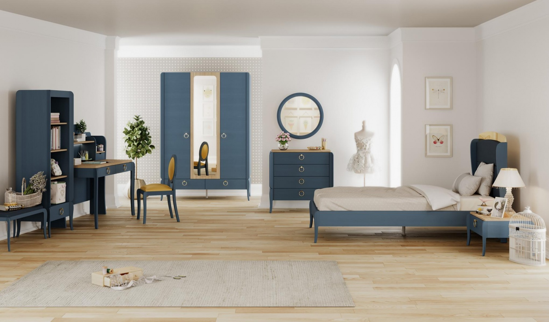 Almila Jugendzimmer komplett Set Elegant Blue 3-teilig