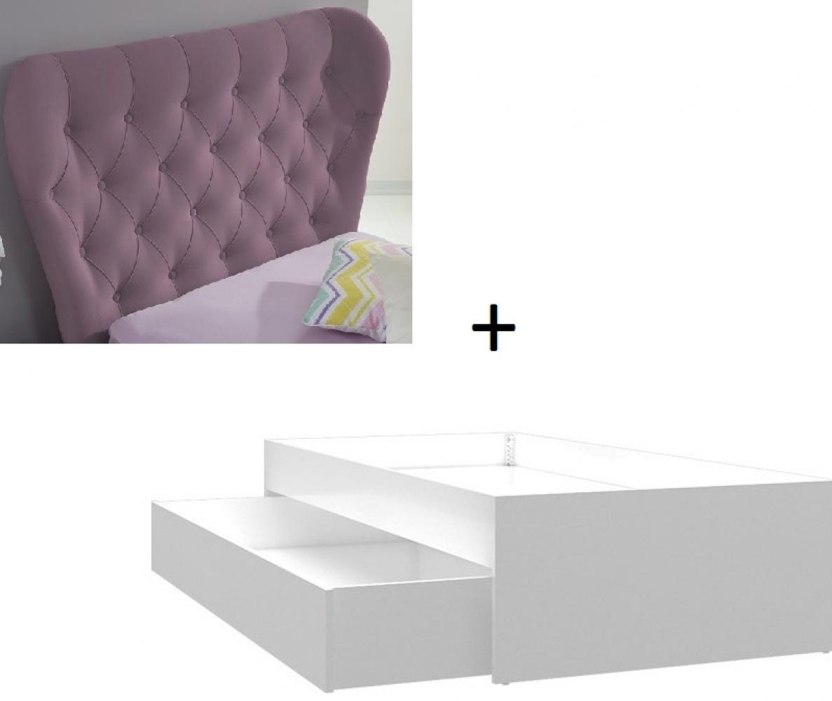 Almila Kinderbett Diamond in Lila mit Gästebett 90x190