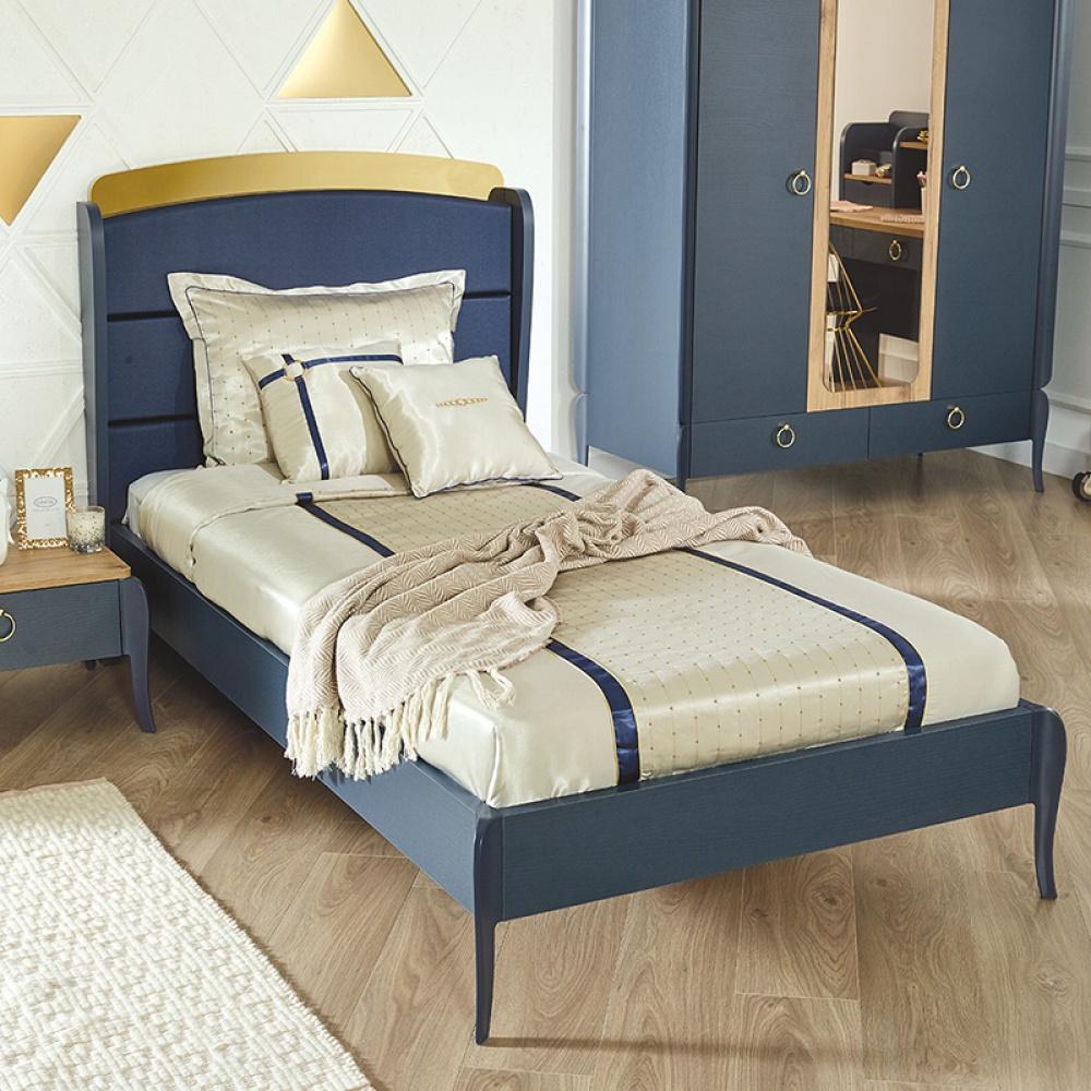 Almila Design Jugendbett Elegant Blue 100x200