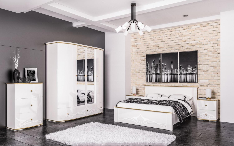 Schlafzimmer Set Weiß Liberty 6-teilig 160x200
