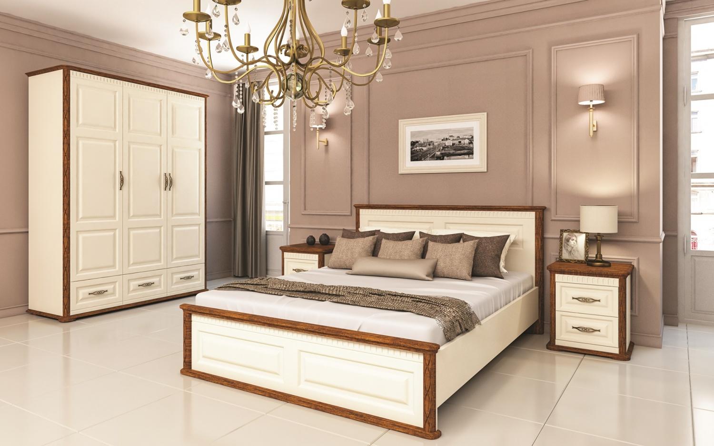 Schlafzimmer Set 4-teilig Marcel in Creme Eiche Optik